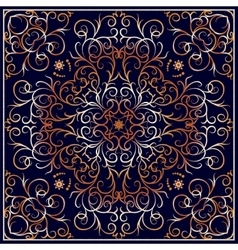 Square ornate pattern vector image vector image