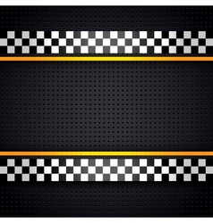 Structured metallic perforated for race sheet vector image vector image