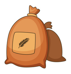 wheat bag icon cartoon style vector image