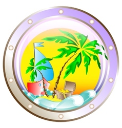 background on vacation at sea vector image