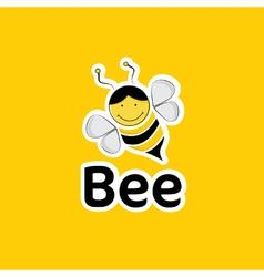 cartoon bee vector image