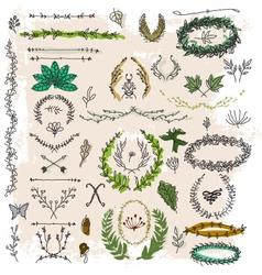 decorative floral vintage vector image