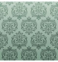 retro damask wallpaper vector image