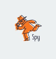 spy icon logo vector image