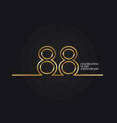 88 years anniversary vector