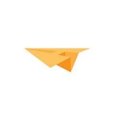 A letter logo lettermark monogram paper plane vector