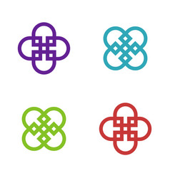 abstract decorative flower logo template vector image