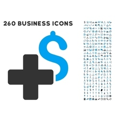Add Dollar Icon with Flat Set vector