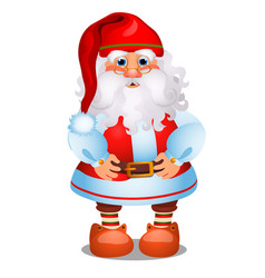 animated santa claus in red christmas costume vector image
