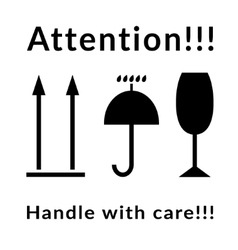 attention signs set vector image