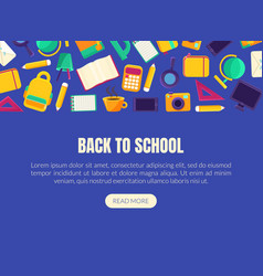 back to school landing page template vector image