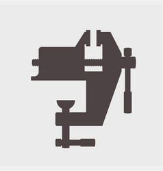 bench screw tool icon vector image