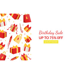 birthday sale landing page template individual vector image