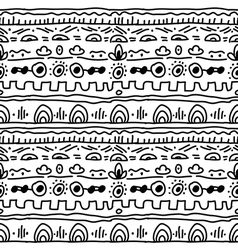 Black and white ethnic pattern vector