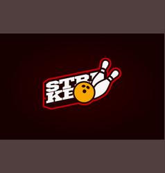 Bowling strike mascot modern professional sport vector