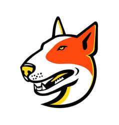 Bull terrier dog mascot vector