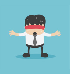 businessman with a red cloth reflects anxiety vector image