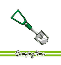 Camping equipment shovel vector