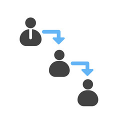 chain of command vector image