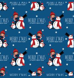 christmas holiday season seamless pattern vector image