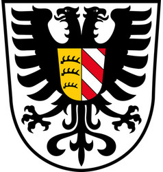 coat of arms of alb-donau-kreis in vector image