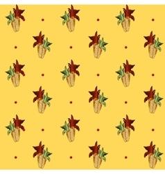 Corn pattern yellow background vector