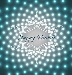 Creative design of diwali vector image