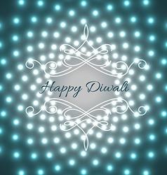 Creative design of diwali vector image