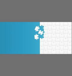 Creative of jigsaw puzzle vector
