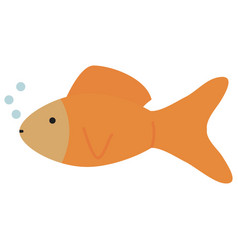 cute ornamental fish mascot character vector image