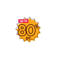Discount up to 80 off label template design vector
