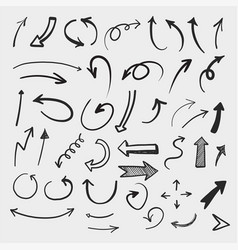 doodle set pencil drawing objects hand drawn vector image