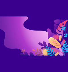 exotic leaves and plants vector image