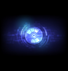 eyeball future technology security concept vector image