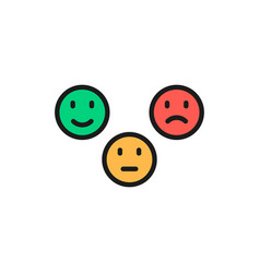 feedback emoticons positive neutral and negative vector image