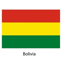 Flag of the country bolivia vector