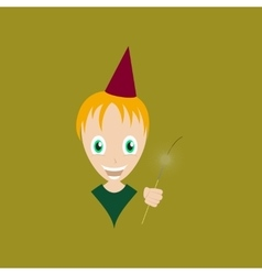 Flat on background of child sparkler vector