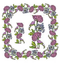 Flower frame 4 380 vector