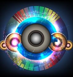 Glittering music background vector