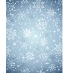 Grey christmas background with snowflakes vector image