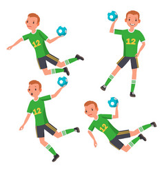 handball player male match competition vector image