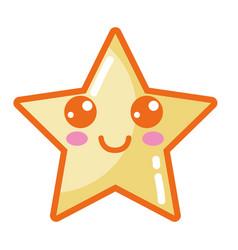 Kawaii cute happy star sparkly vector