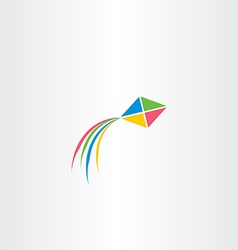 kite icon colorful design vector image