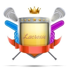 Label for lacrosse sport club or event Bright vector image