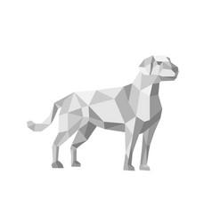 Labrador standing low polygon vector