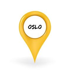 Location Oslo vector