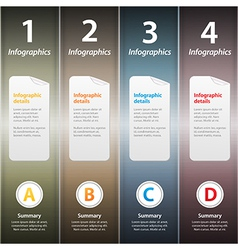 Metallic folders infographic vector image