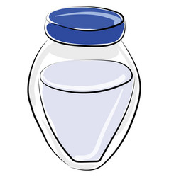milk drawing on white background vector image