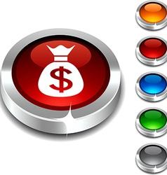 Money 3d button vector