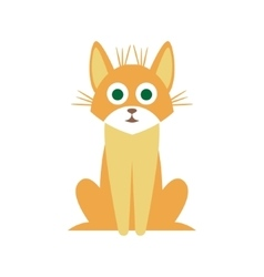 Mutt Cat Primitive Cartoon vector